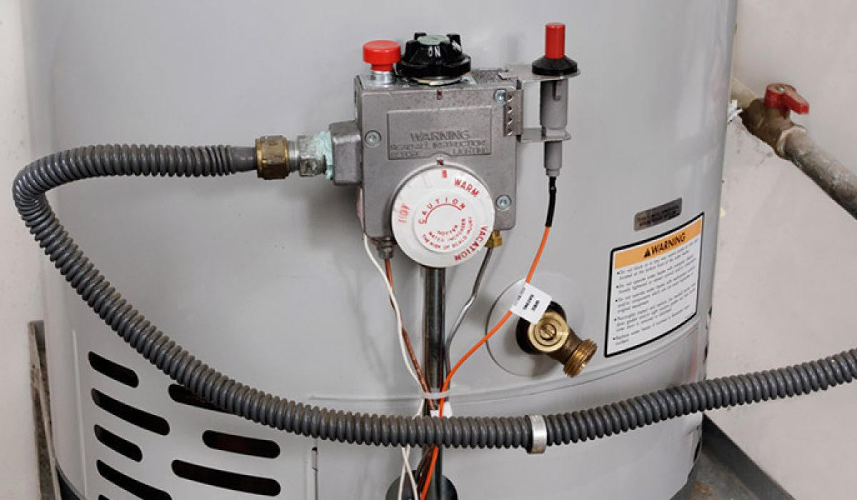 Temperature controls on hot water heater
